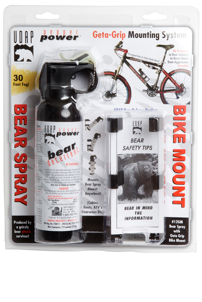 Bear Spray with Geta-Grip Bike Mount 7.9oz-225g