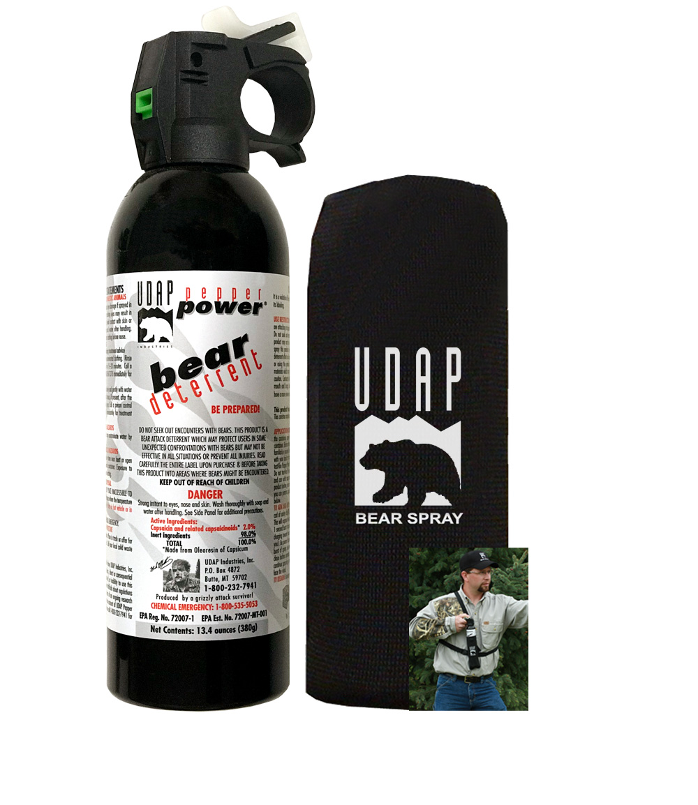 #18CP Super Magnum Bear Spray with Chest Holster 13.4oz-380g