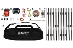 Outfitter Bear Electric Fence (Covers 45ft.. x45ft. sq. area) (5.5lbs w/ Batteries)